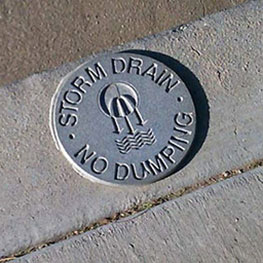 Only rain in the storm drain